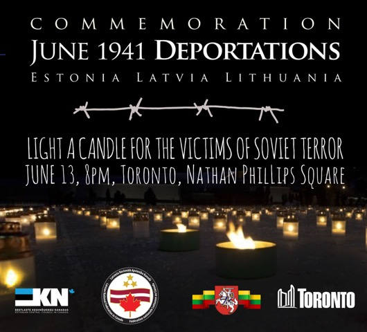 Baltic deportation commemoration 2017